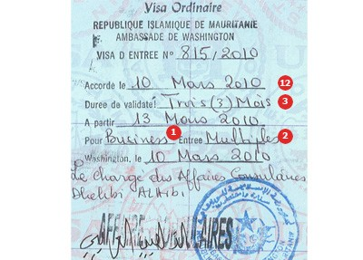 View samples of actual travel visas ivpsc mauritania visa thecheapjerseys Choice Image