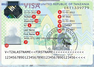 View samples of actual travel visas cibtvisas tanzania visa altavistaventures Choice Image
