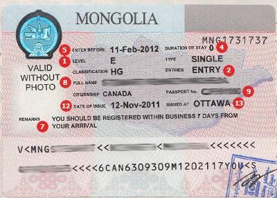 Mongolia Visa
